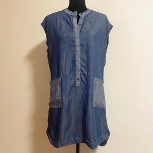 Guess sleeveless jean tunic size medium